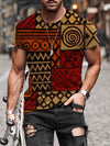 Men's National Style Pattern Print T-shirt