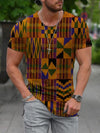Men's Pattern Patchwork T-shirt