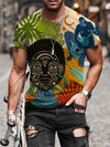 Men's Abstract Mysterious Tribe Print T-shirt