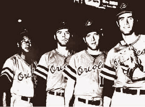 Baltimore Orioles 20 Game Winners Cuellar,Dobson,McNally & Palmer 1969