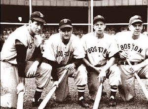 Boston Red Sox Ted Williams, Bob Doerr,Dom DiMaggio & Vern Stephens 1949