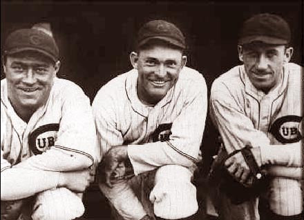 Chicago Cubs Hack Wilson, Rogers Hornsby & Kiki Cuyler 1930