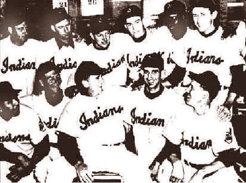 Cleveland Indians Pitching Staff 1954