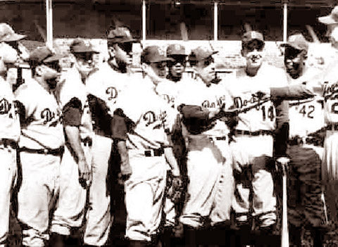Brooklyn Dodgers Starting Line Up World Series 1955