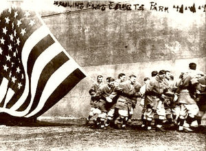 Ebbets Field Brooklyn Raising the Flag 1914
