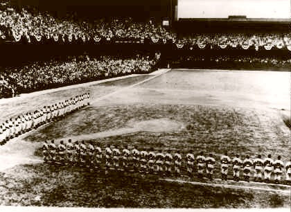 Shibe Park World Series Line Ups 1950