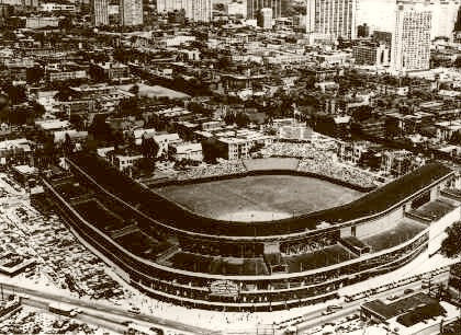 Wrigley Field (panoramic) (Chicago Cubs) 1969