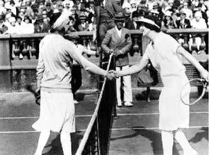 Suzanne Lenglen & Miss Wills Cannes, France 1926