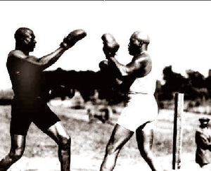 "Jack Johnson ""Early Morning Workoutt"" 1910"