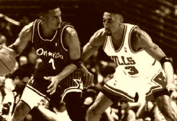 Hardaway & Pippen Tight Defense By The Bulls 1996