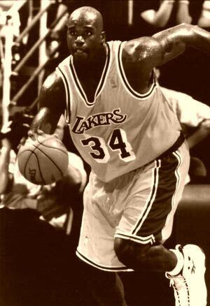 Shaquille O'Neal Fast Break Lakers 1997