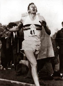 "Roger Bannister ""Breaking the 4 Minute Mile"" 1954"