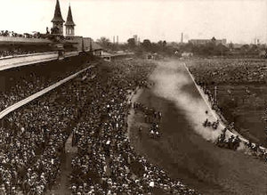 Kentucky Derby Going Round A Bend 1950