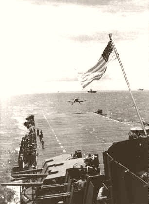 F4U Landing On The Yorktown The Pacific 1945