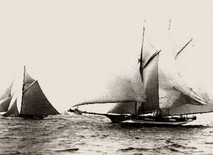 New York Americas Cup Quickstep And Gloriana 1892