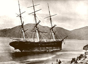 Old San Francisco Frank Jones Aground 1877