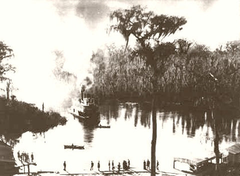 Silver Springs Florida Steamboat Landing 1886