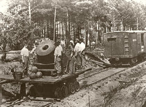 Train Mounted Rebel Mortar North Carolina 1865