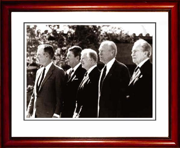 Bush, Reagan, Carter, Ford & Nixon