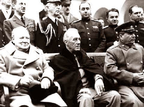 Churchill, Roosevelt & Stalin