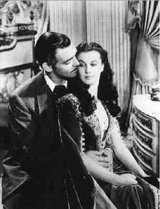 Clark Gable & Vivien Leigh On The Set Gone With The Wind