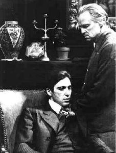 Al Pacino & Marlo Brando On Th Set The Godfather