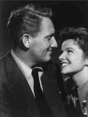 Spencer Tracy & Katharine Hepburn On The Set. Woman Of The Year