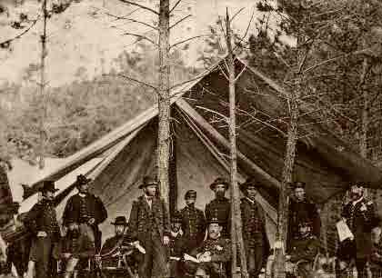 Grant & The Union Staff 1862