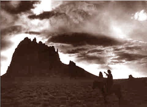 The Navajo Land Ship Rock 1910