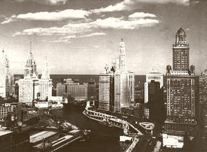 Chicago Skyline 1930