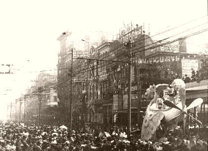 The Rex Pageant During Mardi Gras 1907