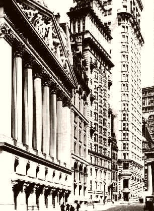 NEW YORK STOCK EXCHANGE VIEW FROM BROAD STREET 1895