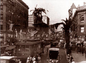 Los Angeles City Of Angeles Broadway (with palms) 1928