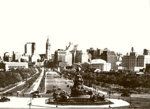 Philadelphia View From Art Museum 1930