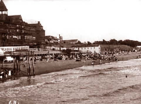Santa Monica Beach The Day At The Beach (Hotel Arcadia) 1900