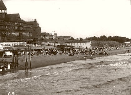 Santa Monica Beach The Day At The Beach 1900