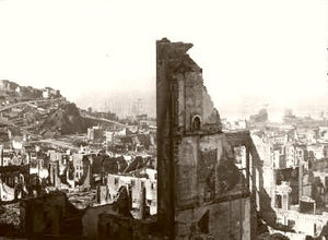 San Francisco Earthquake Looking N.E From Nob Hill 1906