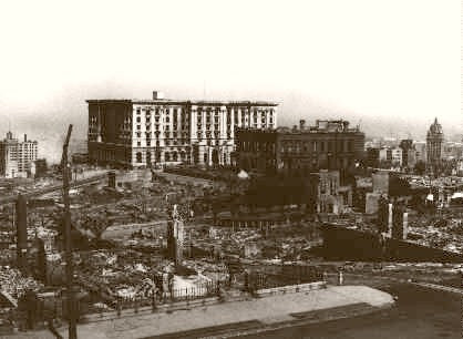 San Francisco Earthquake Fairmont Hotel/Flood Mansion 1906