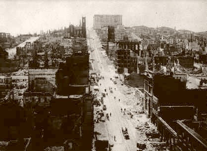 San Francisco Earthquake California Street 1906