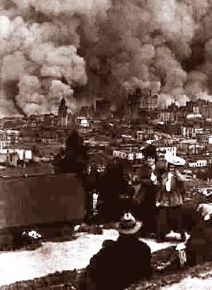 San Francisco Fire View From Russian Hill 1906