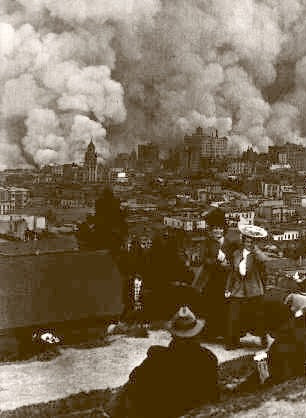 S.F. Fire View From Russian Hill 1906