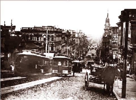 California Street From Grant 1886