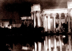 Palace Of Fine Arts Night Time Reflection 1915