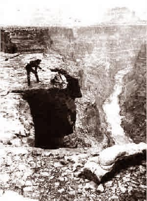 Grand Canyon The Powell Expedition (v) (Man on Cliff) 1869
