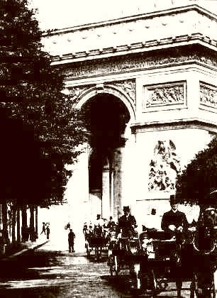 Paris Arc De Triomphe 1910
