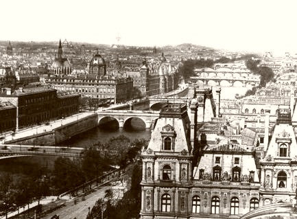 Paris City Of Light Panoramic 1890