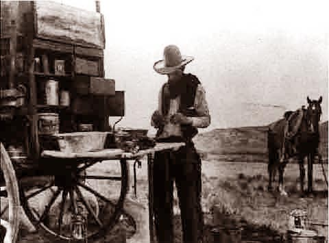 Texas At The Chuck Wagon 1880