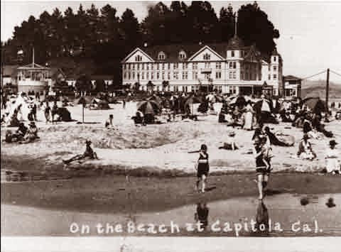 Capitola At The Beach 1905