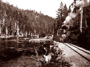 Lake Tahoe Truckee River (Train) 1930