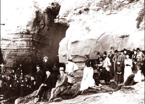 La Jolla Exploring The Caves 1890